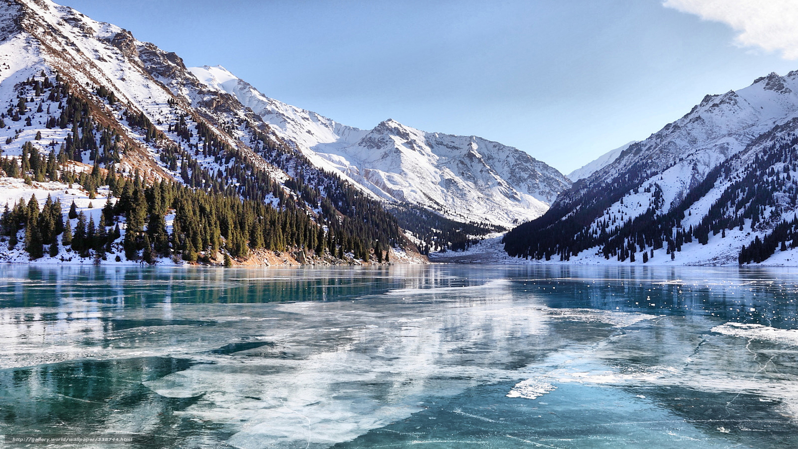 Baixar wallpaper lago inverno almaty bao papis de for Sfondi invernali hd