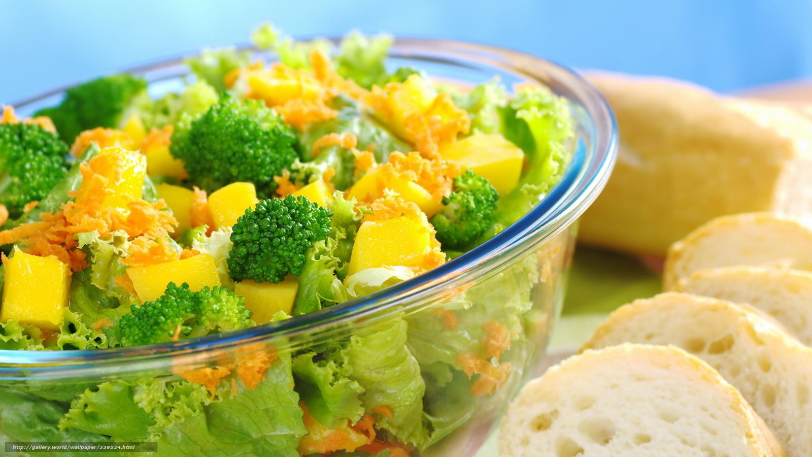 Скачать обои еда,   овощи,   полезное,   салат бесплатно для рабочего стола в разрешении 1920x1080 — картинка №339524