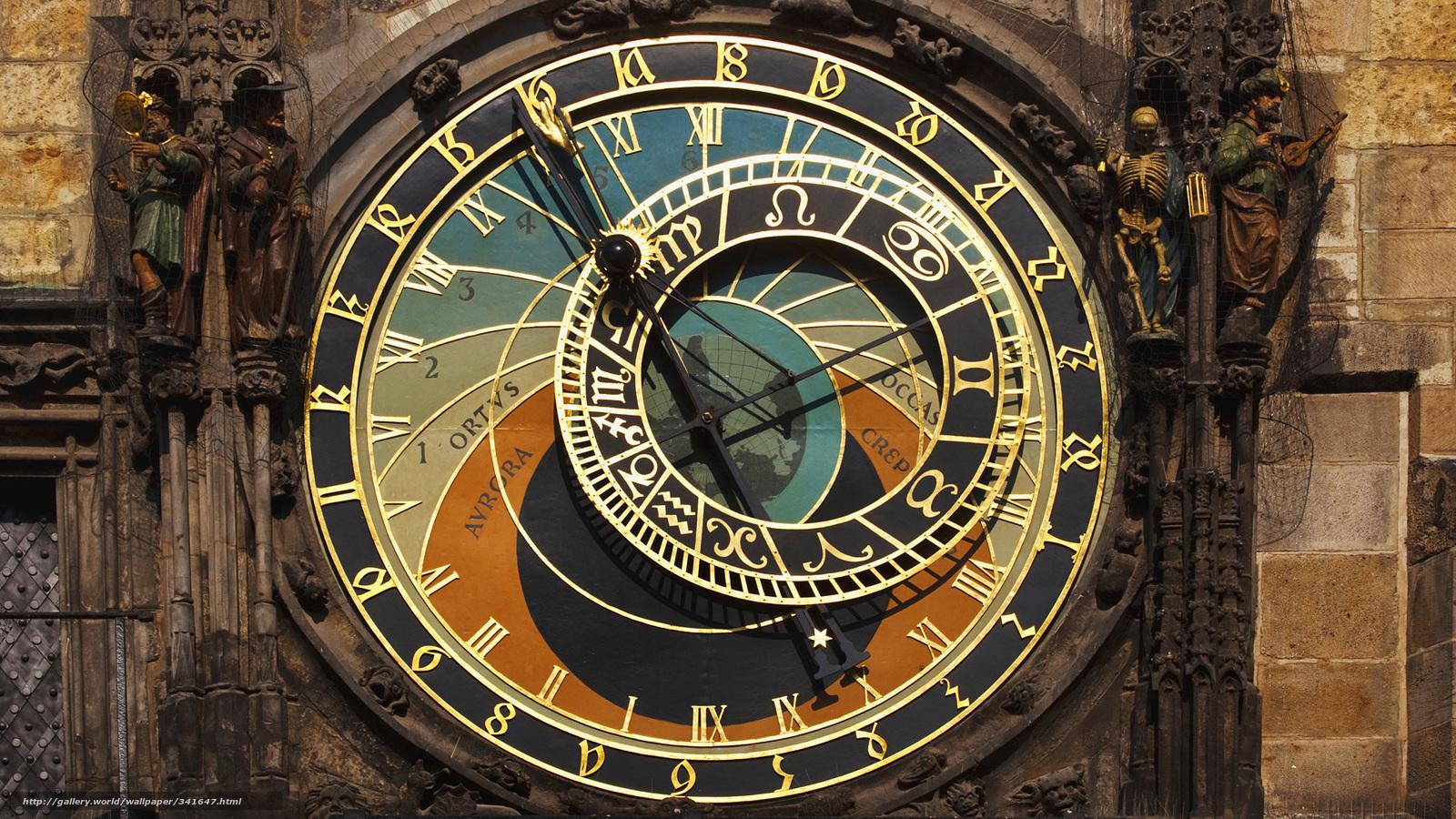 Download wallpaper watch,  astronomy,  czech republic,  Prague free desktop wallpaper in the resolution 1920x1080 — picture №341647