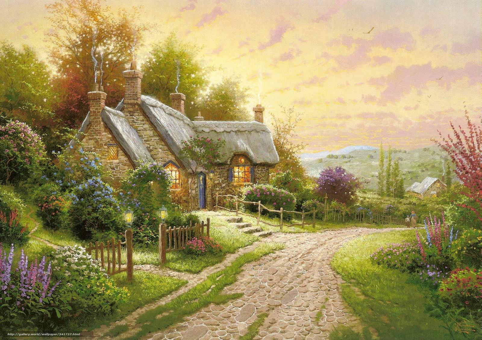 summer cottage wallpaper - photo #12