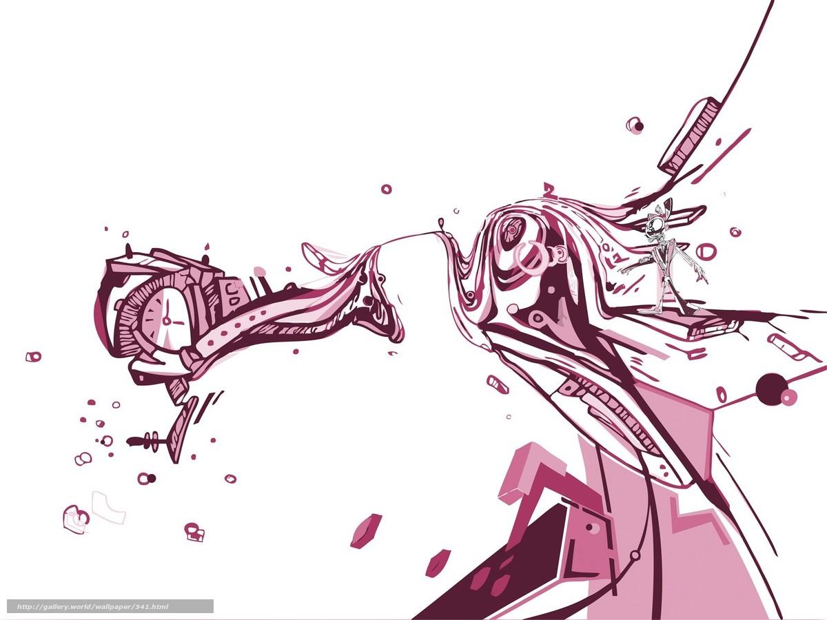 Скачать обои линии,  белый,  часы,  время бесплатно для рабочего стола в разрешении 1600x1200 — картинка №341