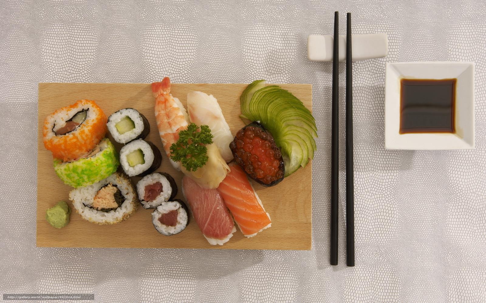 Скачать обои еда,  пища,  суши,  роллы бесплатно для рабочего стола в разрешении 1920x1200 — картинка №342015