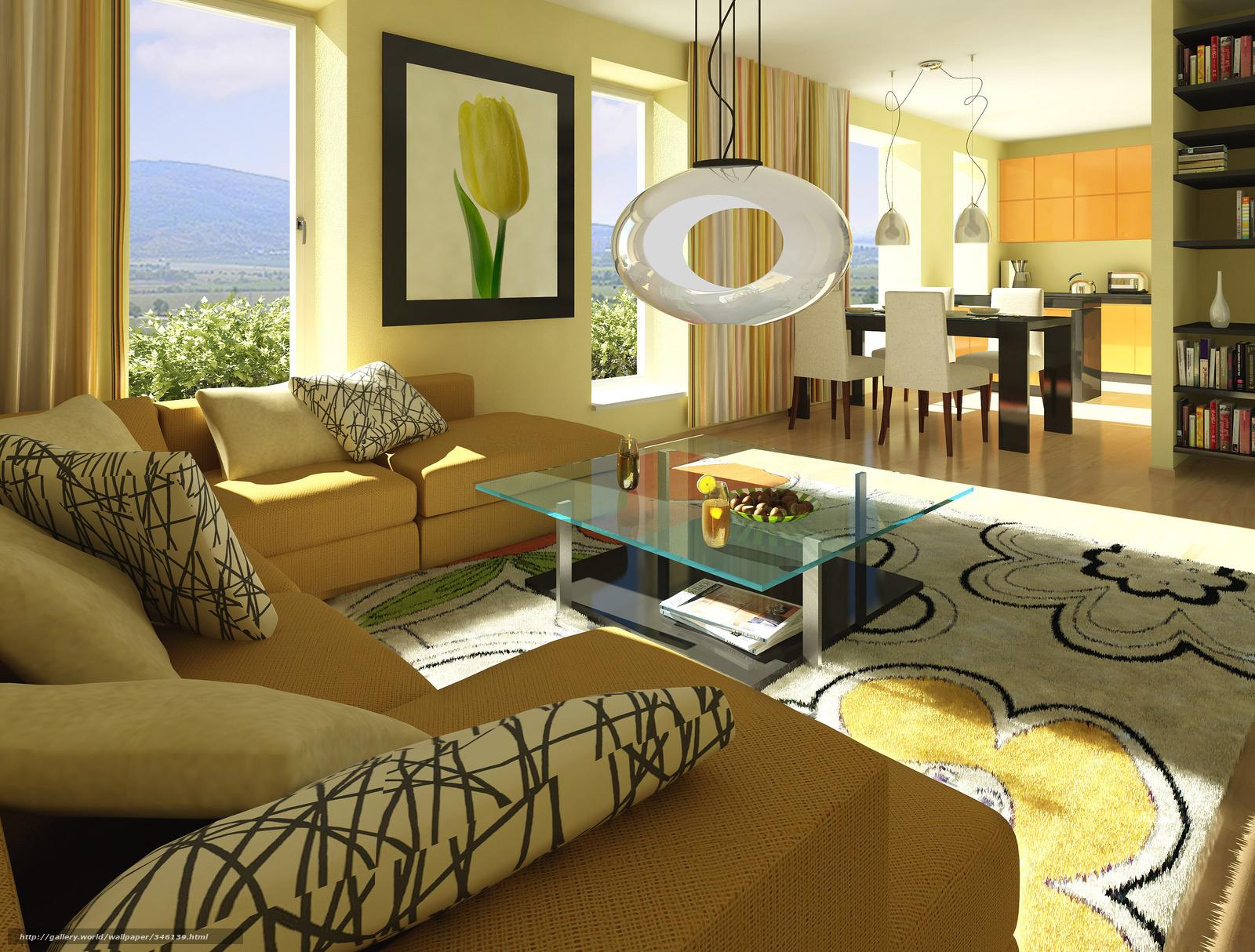 Скачать обои интерьер,  дизайн,  стиль,  дом бесплатно для рабочего стола в разрешении 3000x2276 — картинка №346139