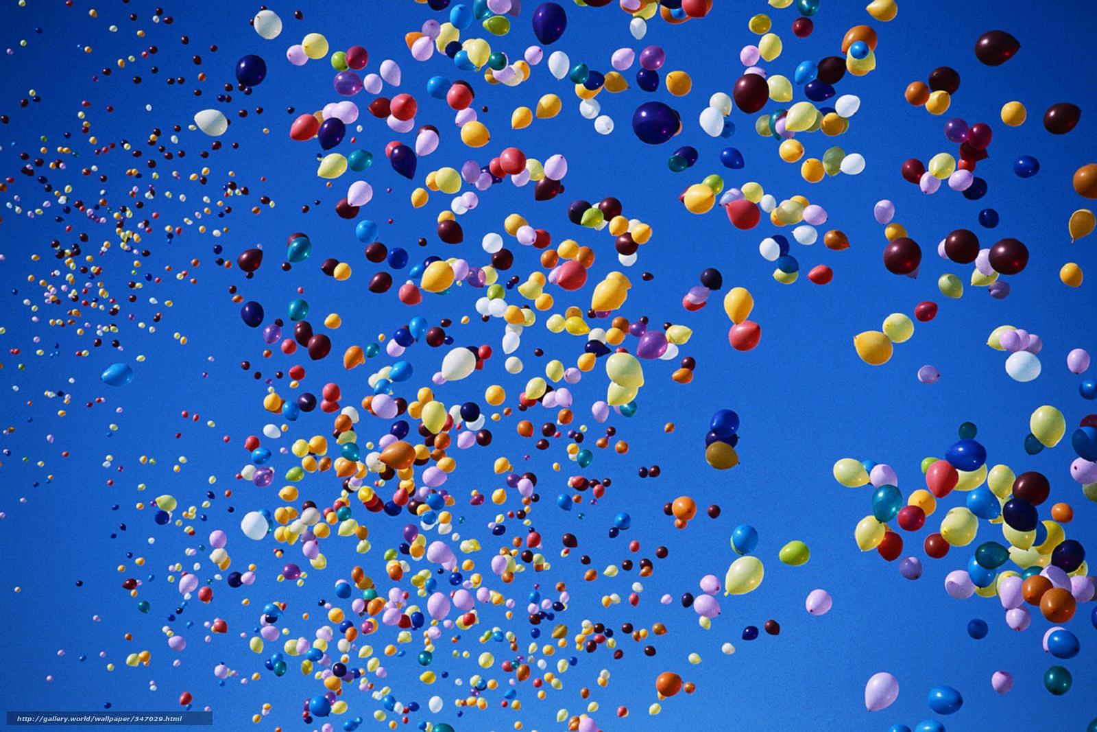 Скачать обои Небо,  воздушные шары,  шарики,  разноцветные бесплатно для рабочего стола в разрешении 1950x1300 — картинка №347029