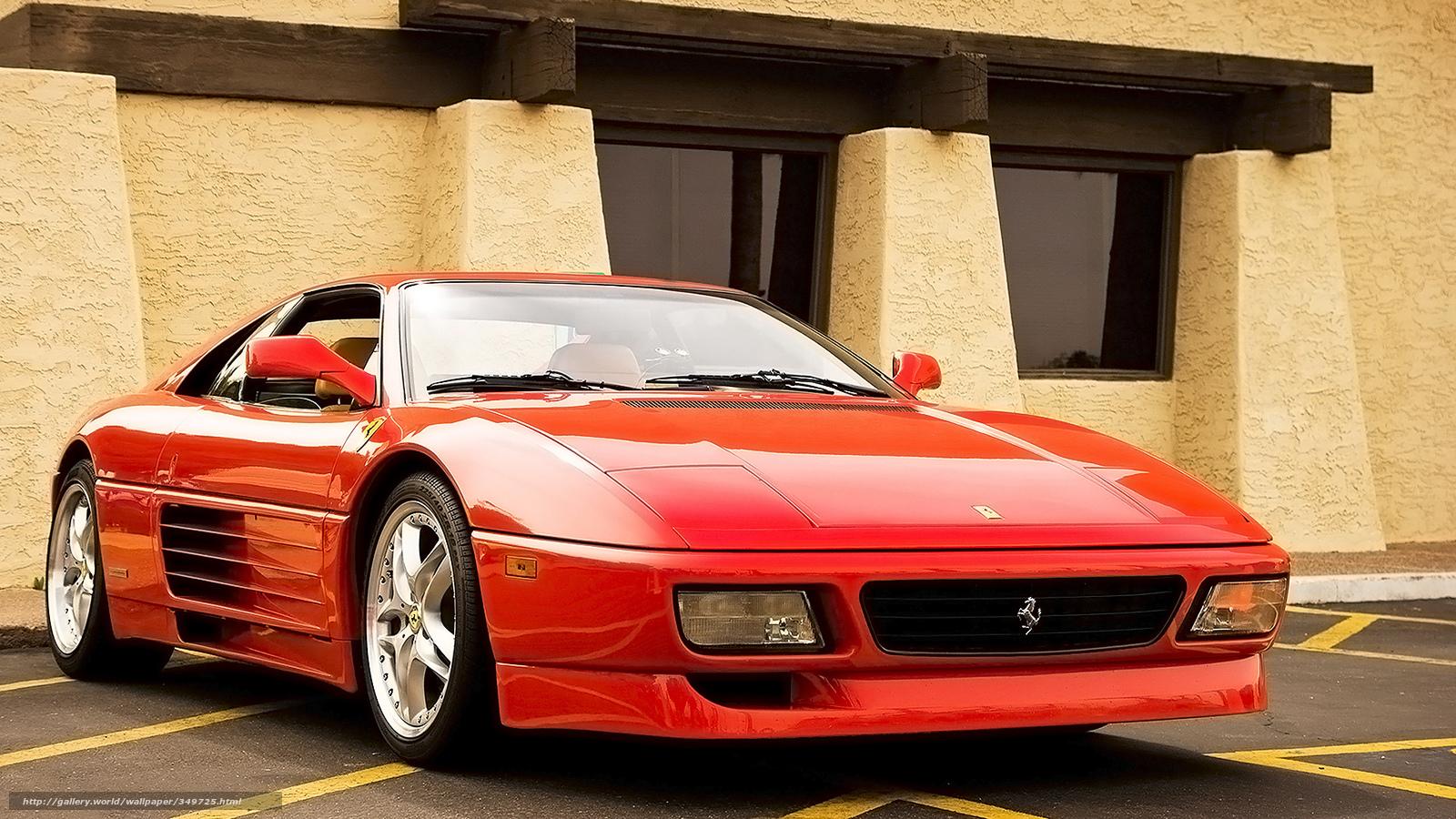 Descargar Gratis Ferrari Ferrari Rojo 348 Fondos De
