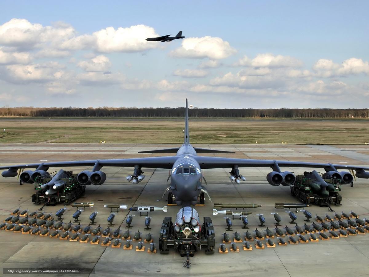 Скачать обои самолет,  бомбардировщик,  оружие,  техника бесплатно для рабочего стола в разрешении 2048x1536 — картинка №34992