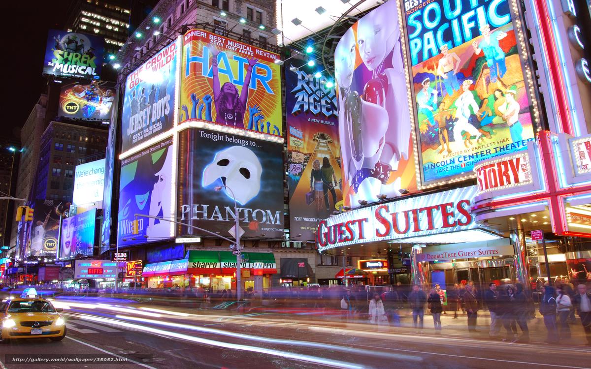 Tlcharger fond d 39 ecran times square new york nuit for Photo ecran times square