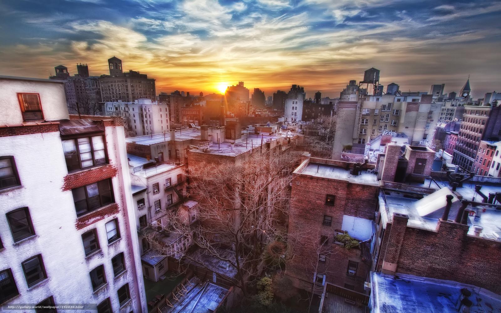 Tlcharger fond d 39 ecran new york coucher du soleil fonds d - Coucher du soleil new york ...