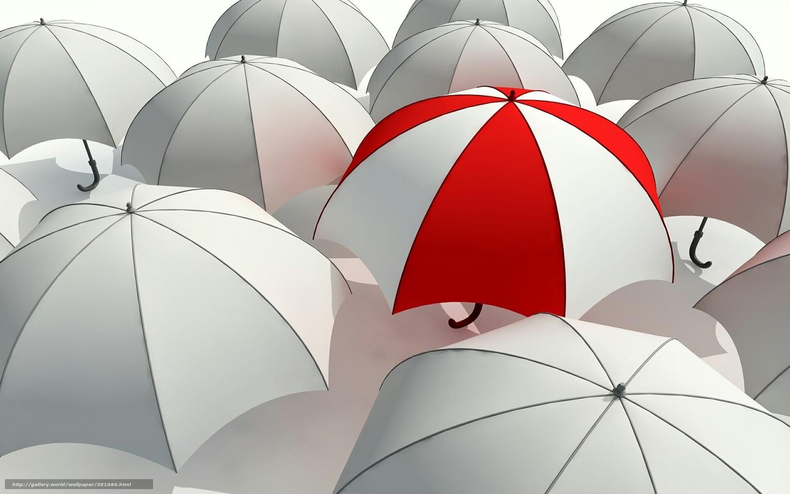 Скачать обои зонт,  зонтик,  серость,  отличие бесплатно для рабочего стола в разрешении 1680x1050 — картинка №351086
