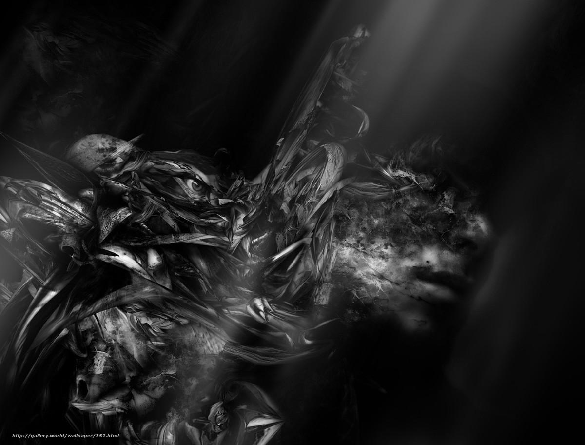 Скачать обои человек,  ночь,  черный,  темно бесплатно для рабочего стола в разрешении 1280x973 — картинка №351
