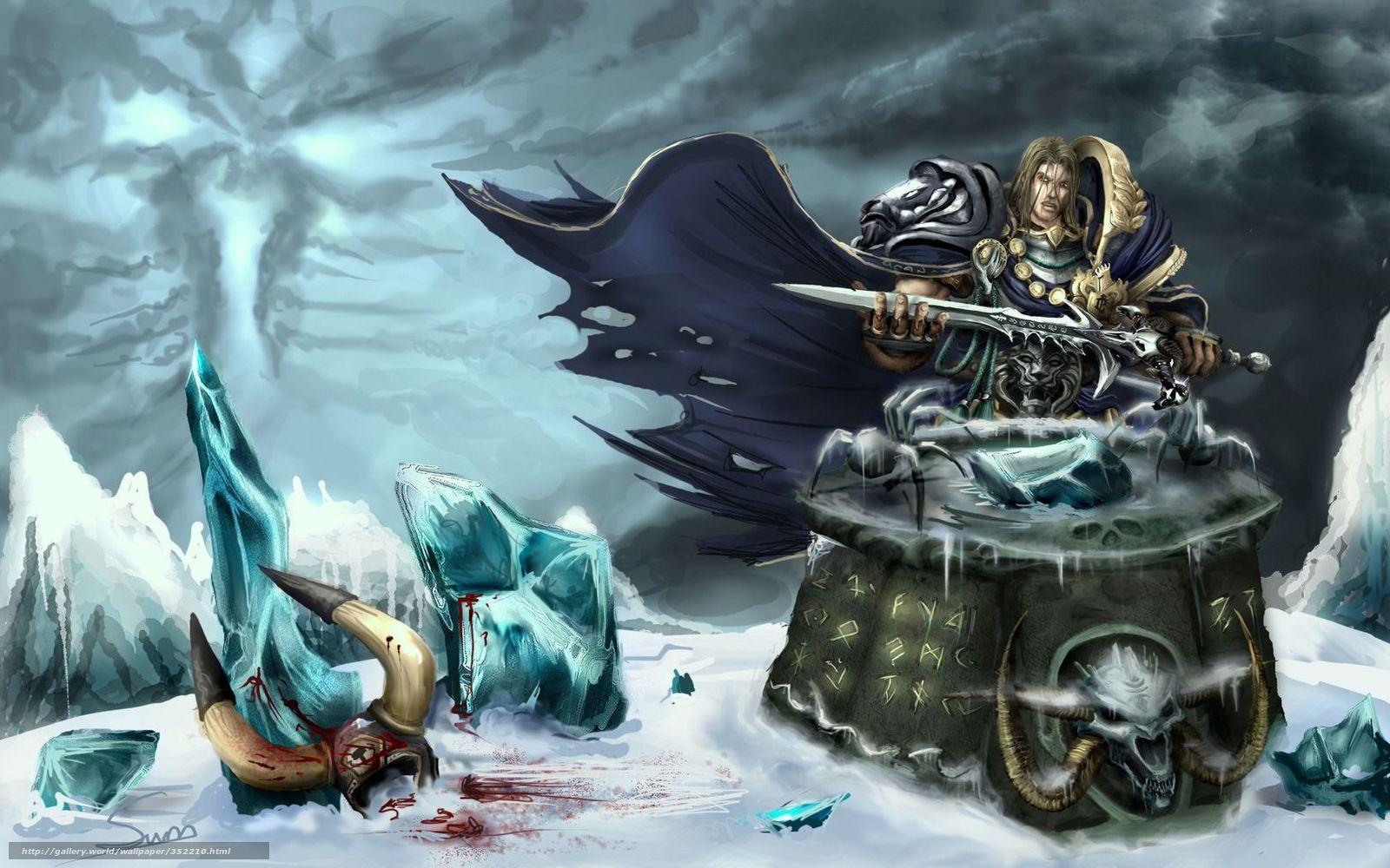 Download Wallpaper War Craft Frozen Throne Arthas