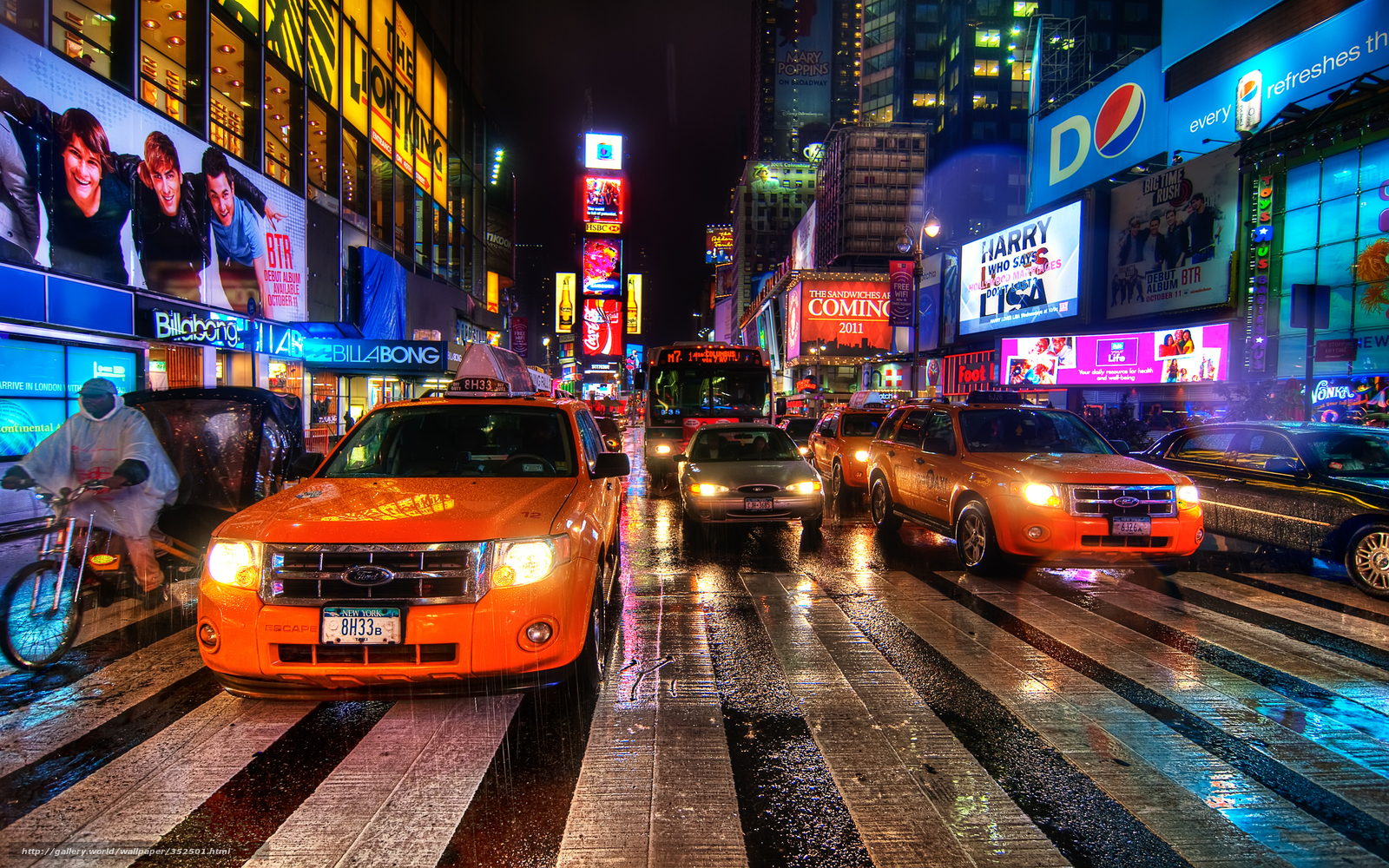 Souvent Tlcharger Fond d'ecran New York, nuit Fonds d'ecran gratuits pour  NA92
