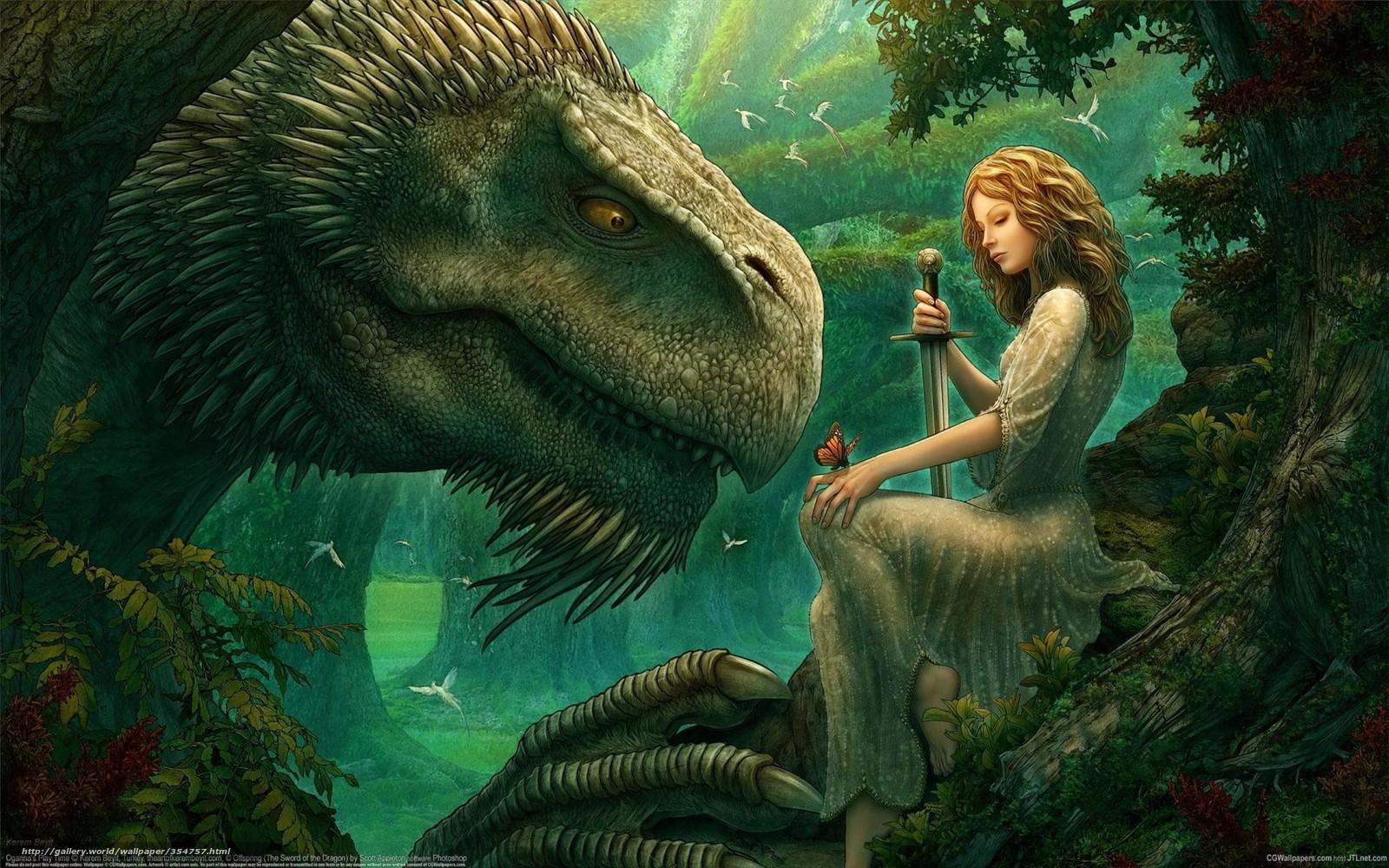 enchanted forest dragon original - photo #16