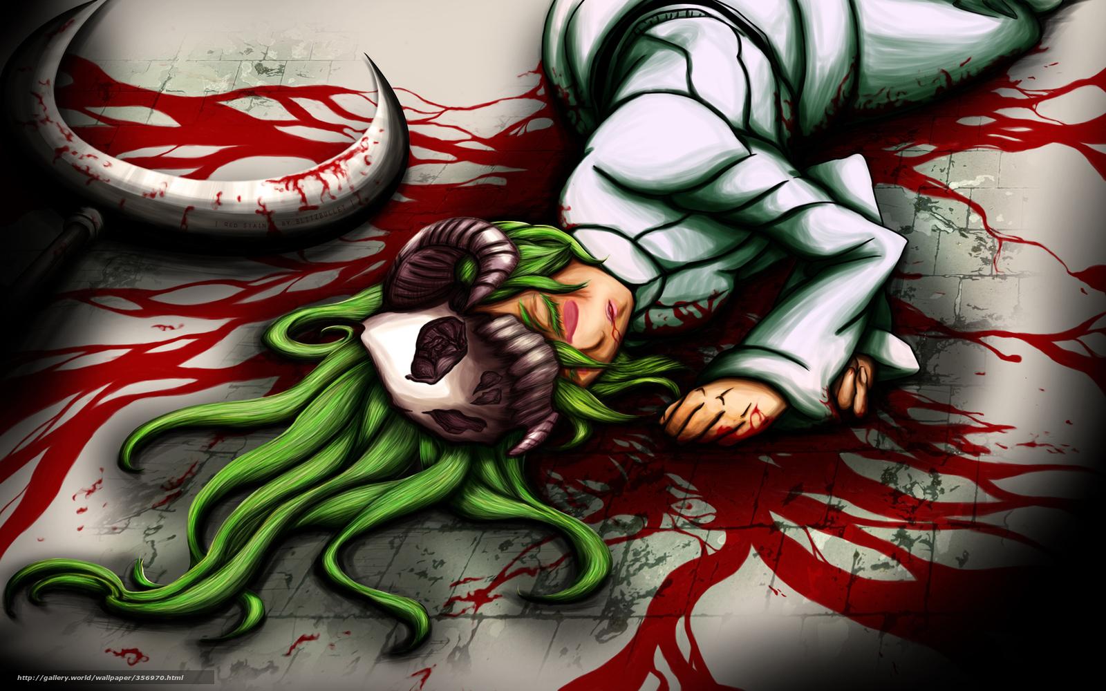 Download wallpaper Art,  girl,  skull,  weapon free desktop wallpaper in the resolution 1680x1050 — picture №356970