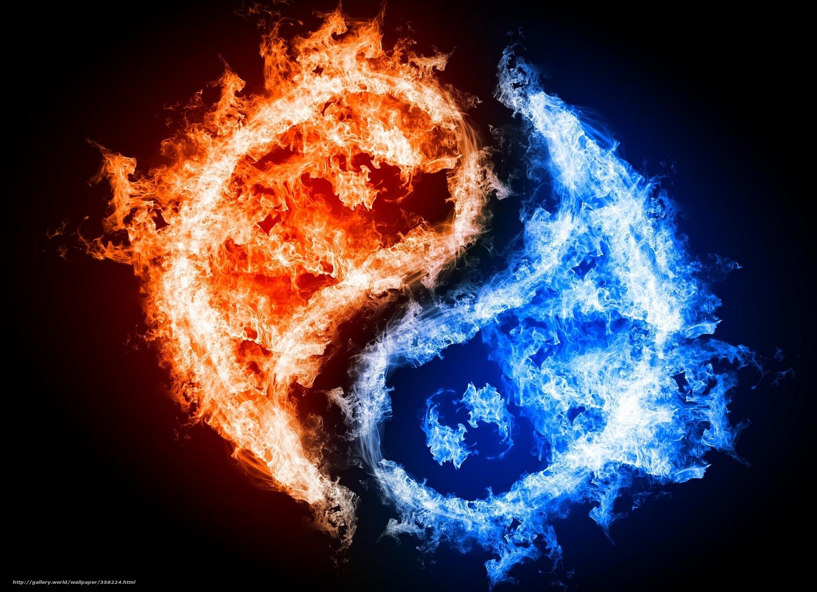 Download Hintergrund Yin Yang Feuer Wasser Freie Desktop Tapeten