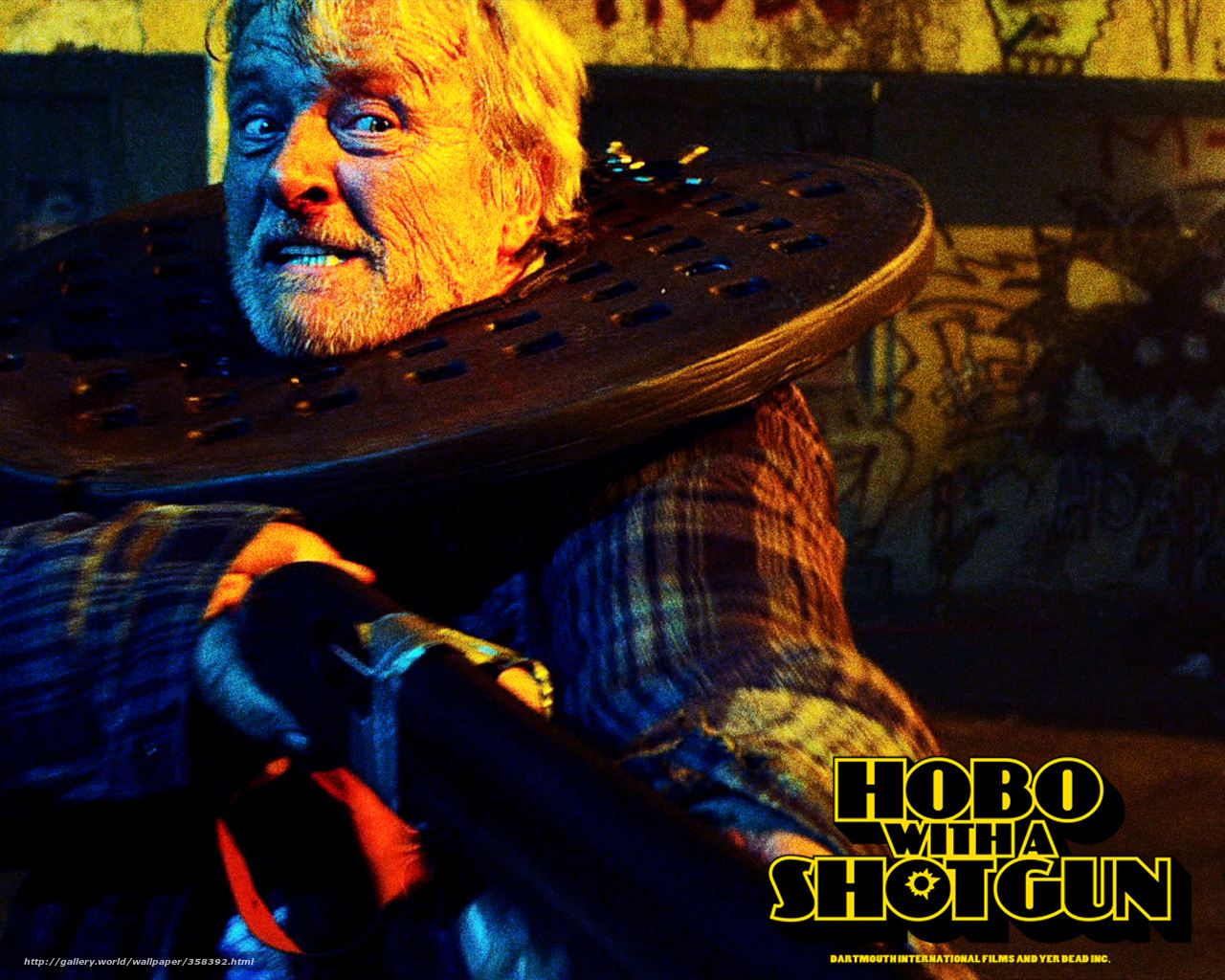 Download wallpaper hobo with a shotgun,  a homeless person with a shotgun,  Hauer,  rutger hauer free desktop wallpaper in the resolution 1280x1024 — picture №358392