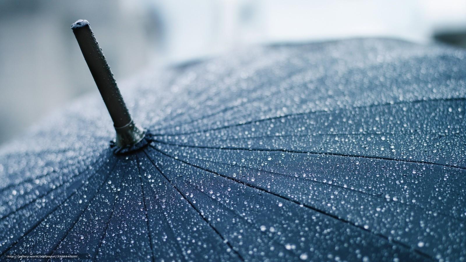Скачать обои макро,  капли,  зонт,  зонтик бесплатно для рабочего стола в разрешении 1920x1080 — картинка №359984