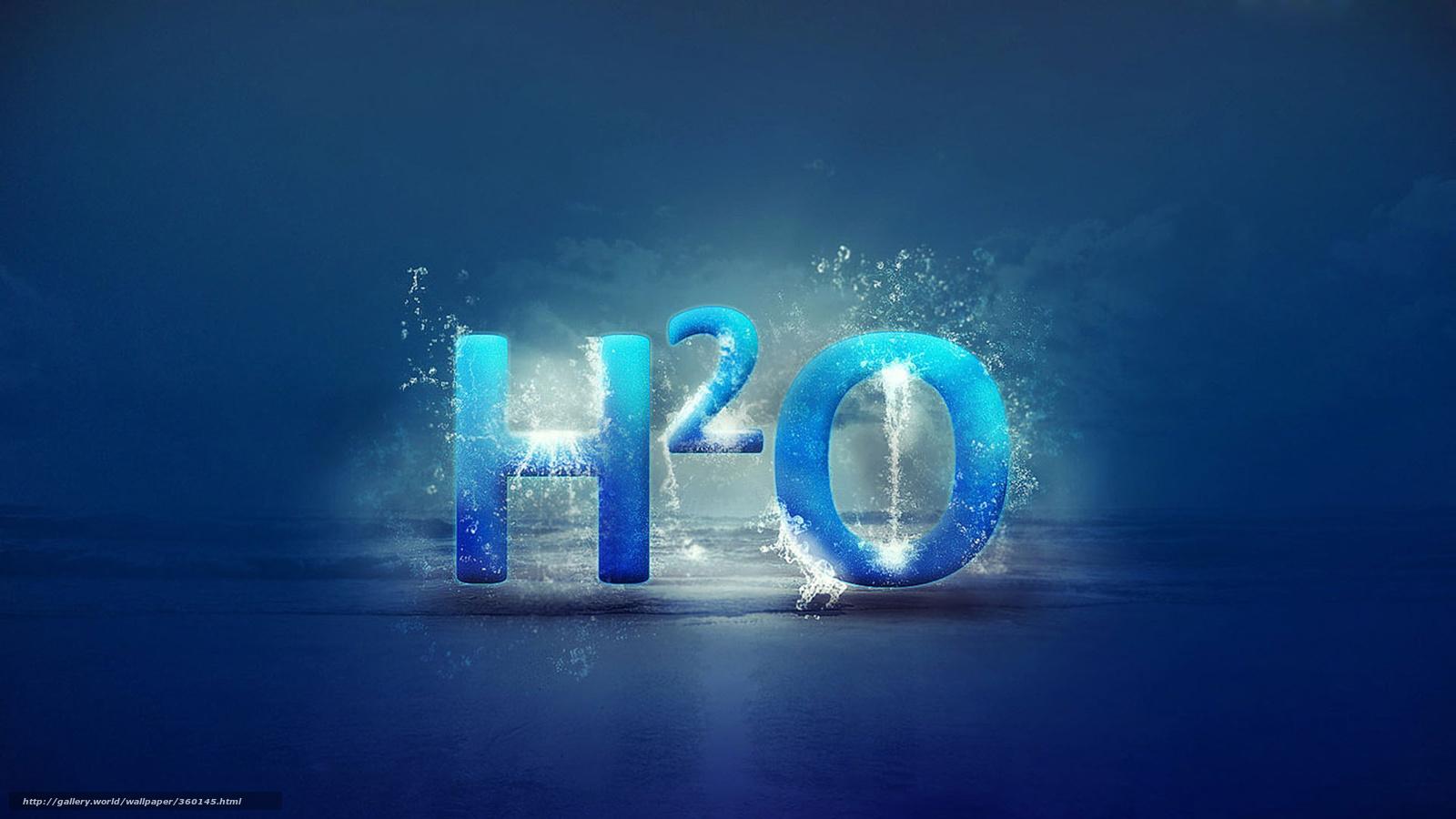 Tlcharger Fond D Ecran H2o Eau Inscription Formule