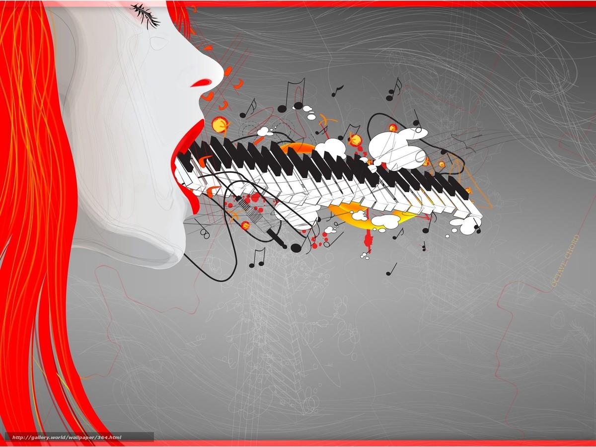 scaricare gli sfondi musica,  disegno,  ragazza Sfondi gratis per la risoluzione del desktop 2048x1536 — immagine №364