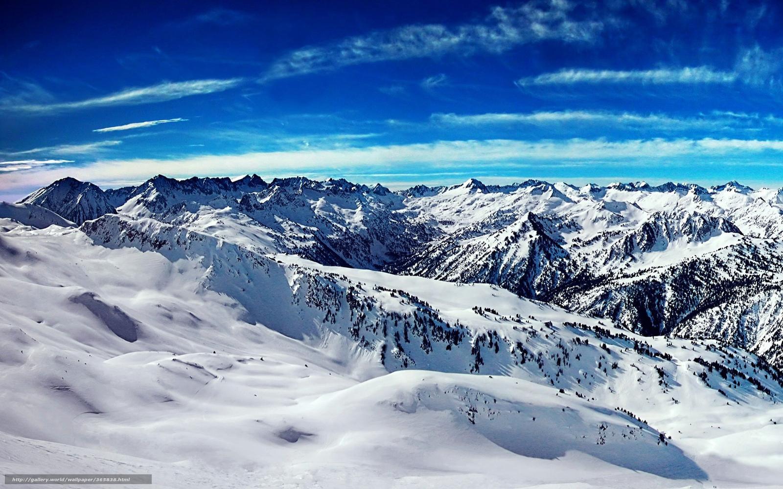 Scaricare Gli Sfondi Montagne Neve Vertici Indietro Sfondi
