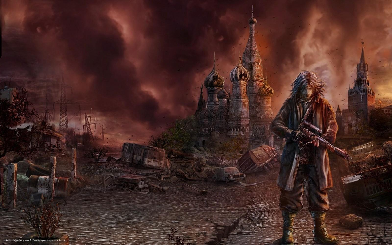 Download wallpaper disaster,  Kremlin,  muzhik free desktop wallpaper in the resolution 1680x1050 — picture №366261