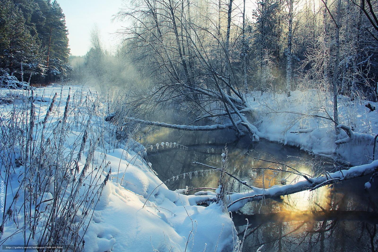Tlcharger fond d 39 ecran hiver rivire nature paysage for Fond ecran iphone paysage