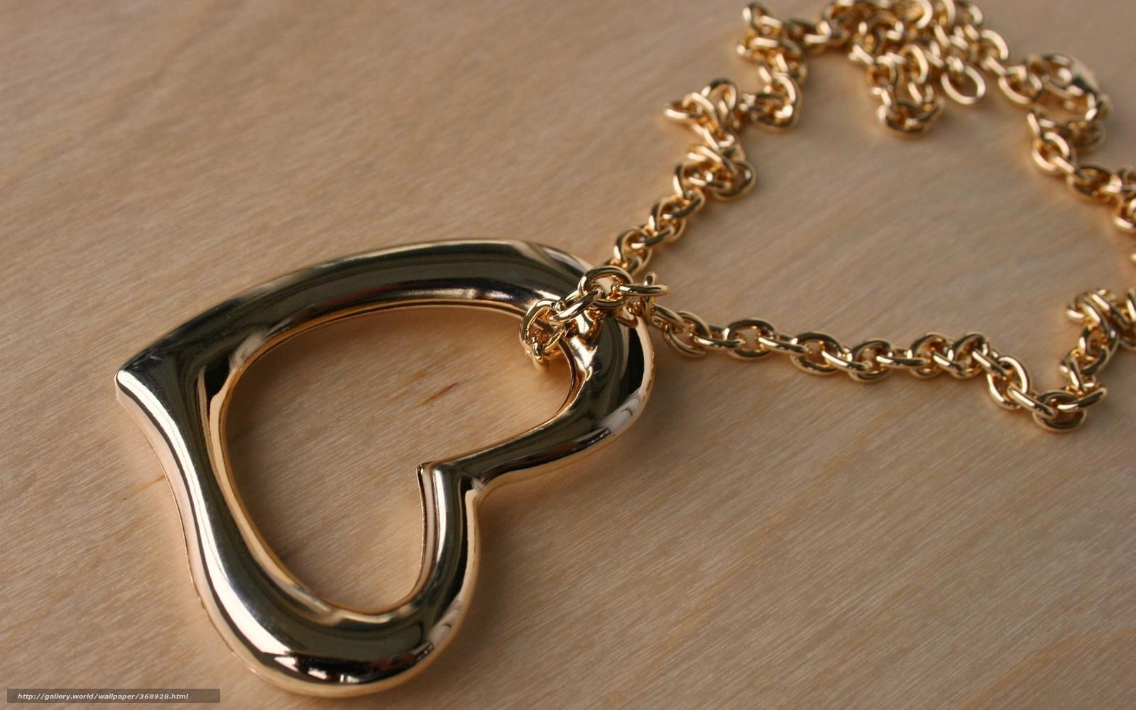 Скачать обои цепочка,  кулон,  подвеска,  золото бесплатно для рабочего стола в разрешении 1680x1050 — картинка №368928