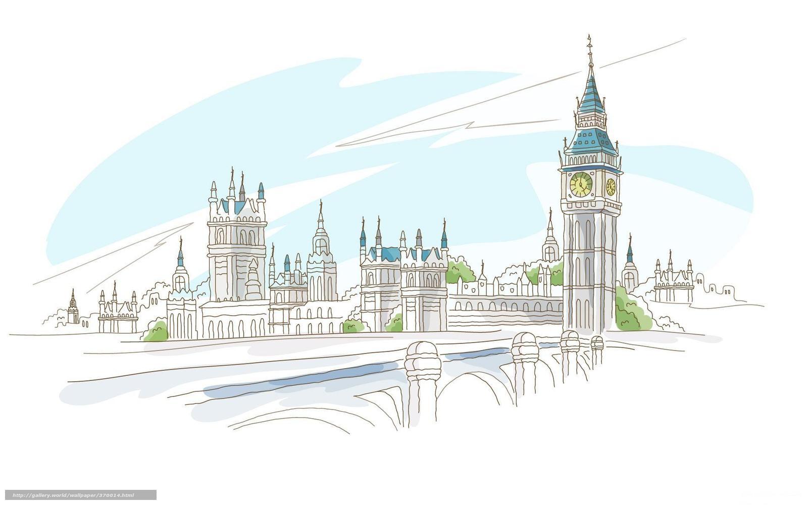 Tlcharger Fond D Ecran Angleterre Londres Ville Dessin
