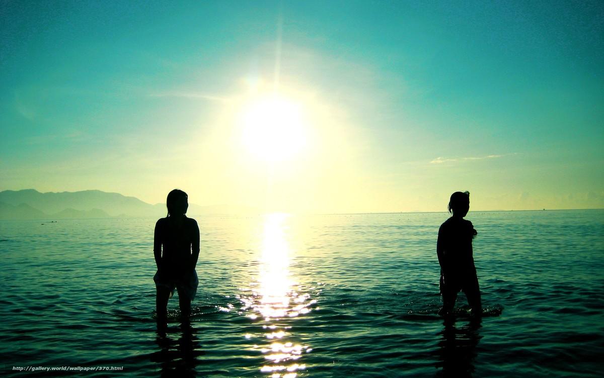 Скачать обои море,  солнце,  волны,  обои бесплатно для рабочего стола в разрешении 2554x1600 — картинка №370