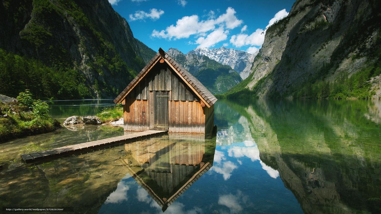 Скачать обои германия,  вода,  горы,  природа бесплатно для рабочего стола в разрешении 1920x1080 — картинка №372019