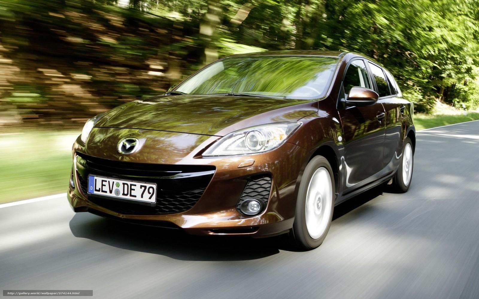 Download wallpaper Mazda Car road rate free desktop wallpaper in