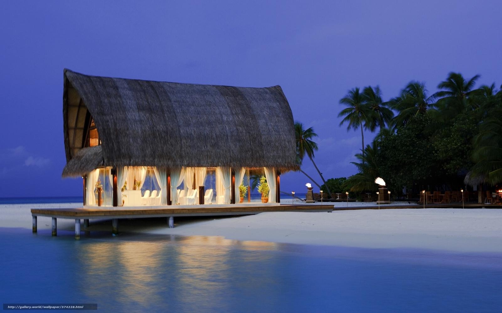 scaricare gli sfondi paradiso,  loggia,  spiaggia,  palma Sfondi gratis per la risoluzione del desktop 2560x1600 — immagine №374228