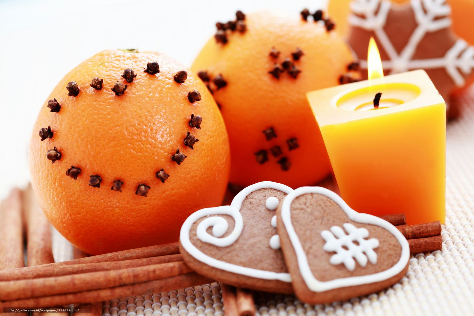 Download wallpaper Holidays,  New Year,  cinnamon,  Candles free desktop wallpaper in the resolution 6000x4000 — picture №375639