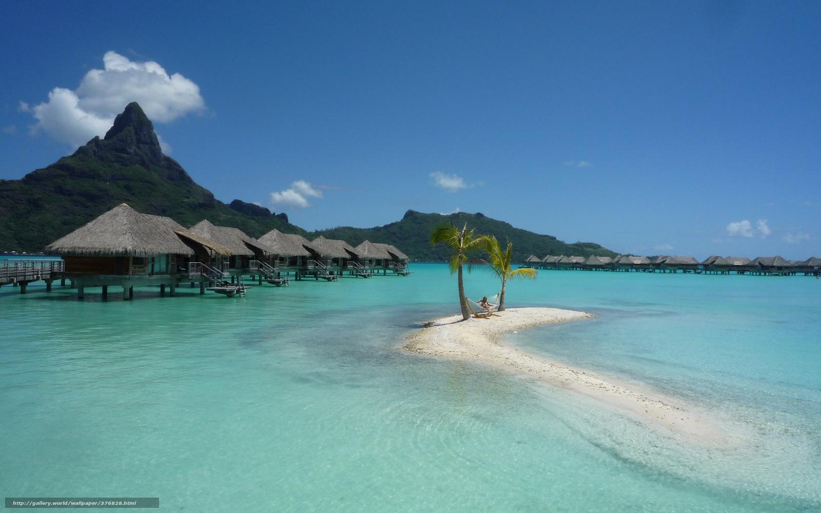 scaricare gli sfondi isola,  Bora Bora,  paesaggio,  riposo Sfondi gratis per la risoluzione del desktop 1680x1050 — immagine №376828