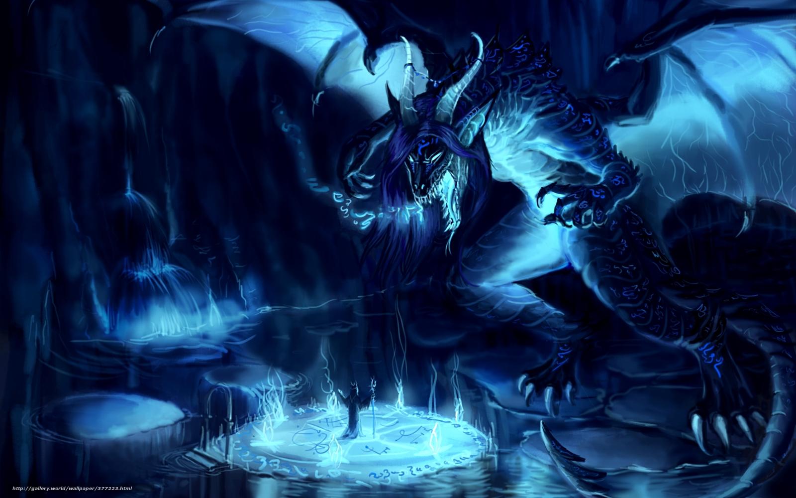 Download Hintergrund Fantasie Magier Drachen Freie
