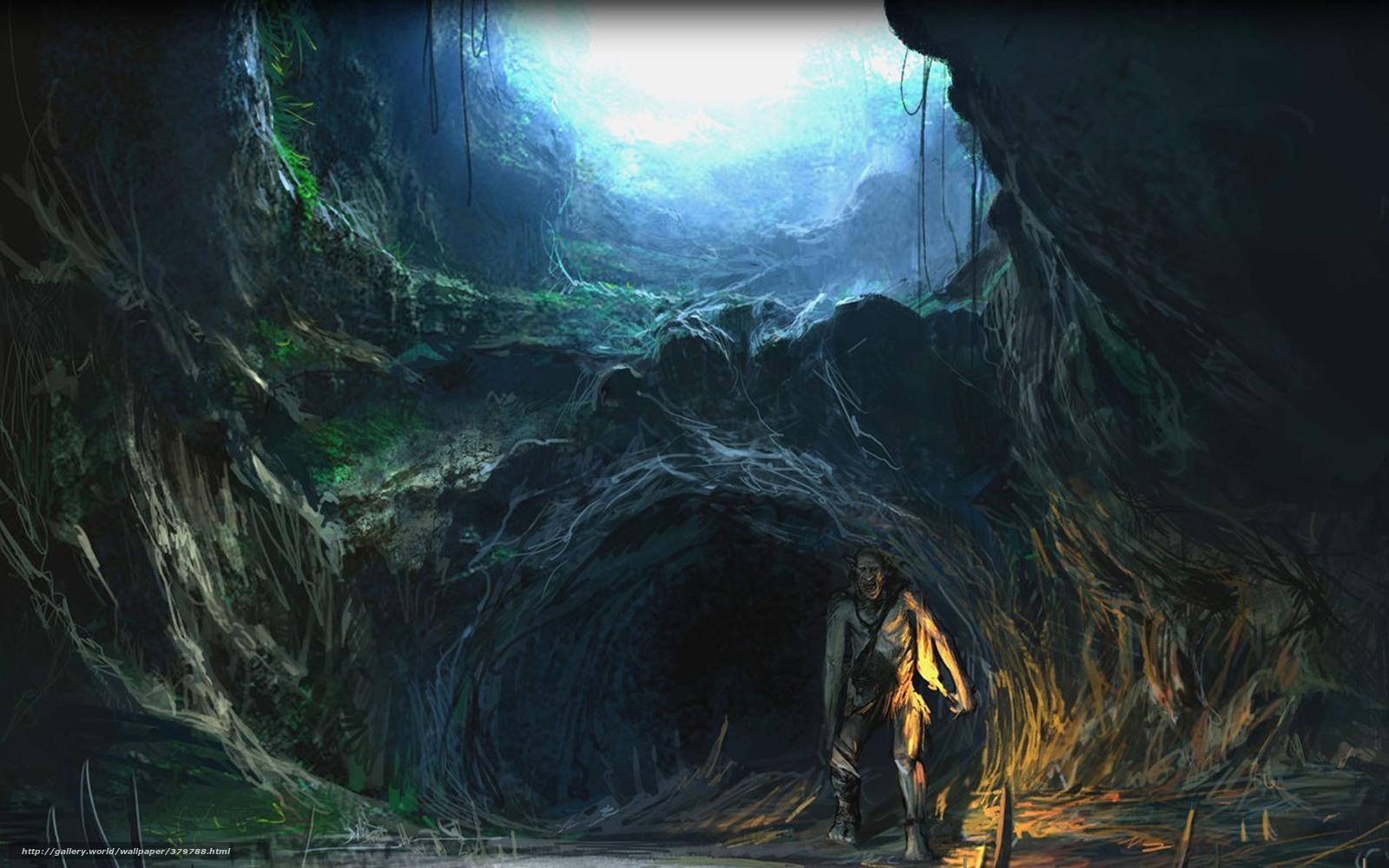 Скачать обои Властелин колец,  Белый совет,  тролль,  пещера бесплатно для рабочего стола в разрешении 1680x1050 — картинка №379788