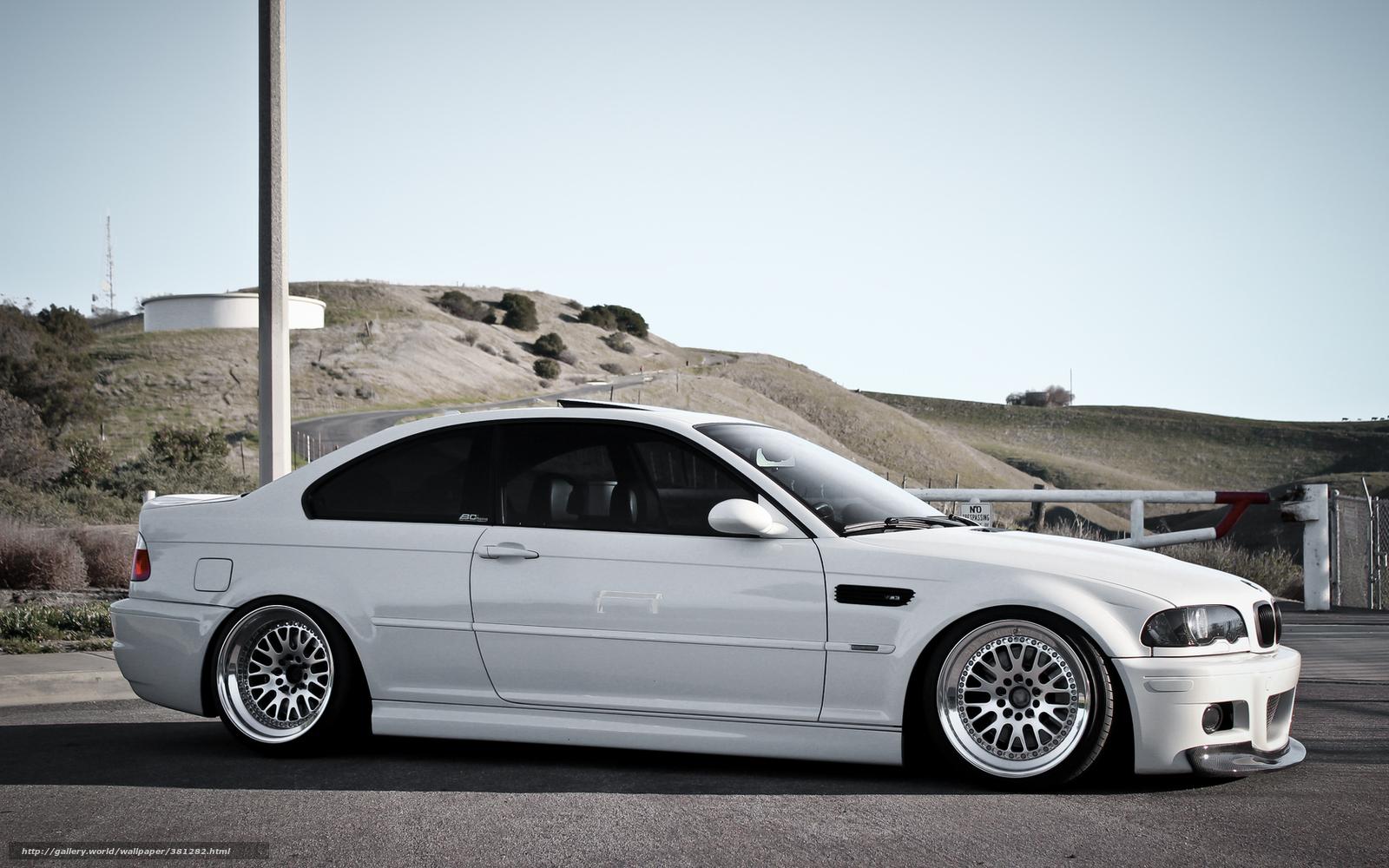Download wallpaper BMW,  white,  Hills,  column free desktop wallpaper in the resolution 1680x1050 — picture №381282