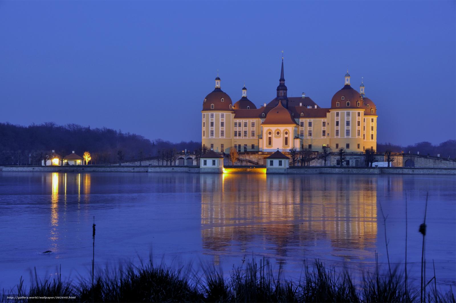 Скачать обои Германия,  Саксония,  Морицбург,  замок бесплатно для рабочего стола в разрешении 4000x2657 — картинка №382645