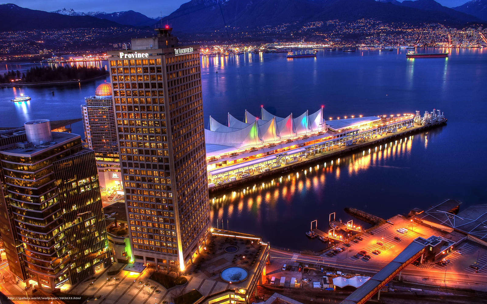 Download wallpaper city,  vancouver,  evening,  wharf free desktop wallpaper in the resolution 1680x1050 — picture №383633