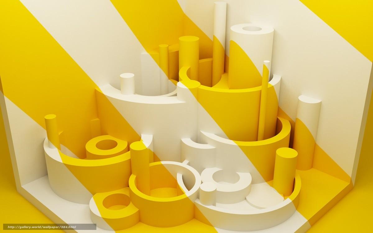 Скачать обои цвета,  город,  белый,  желтый бесплатно для рабочего стола в разрешении 1680x1050 — картинка №384