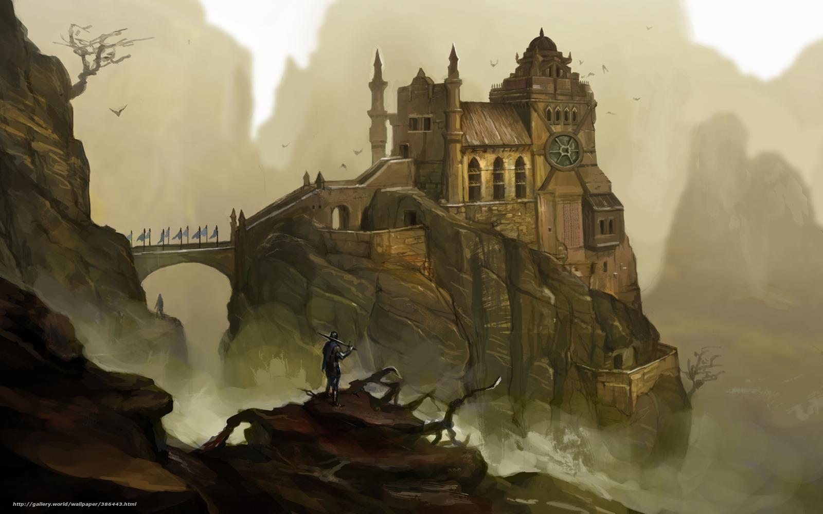 Download Wallpaper Art Castle