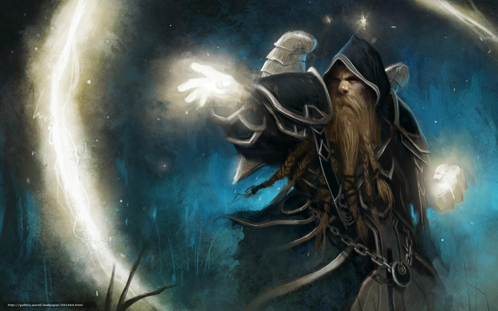 Download Wallpaper Islands, Warcraft, Priest, Background