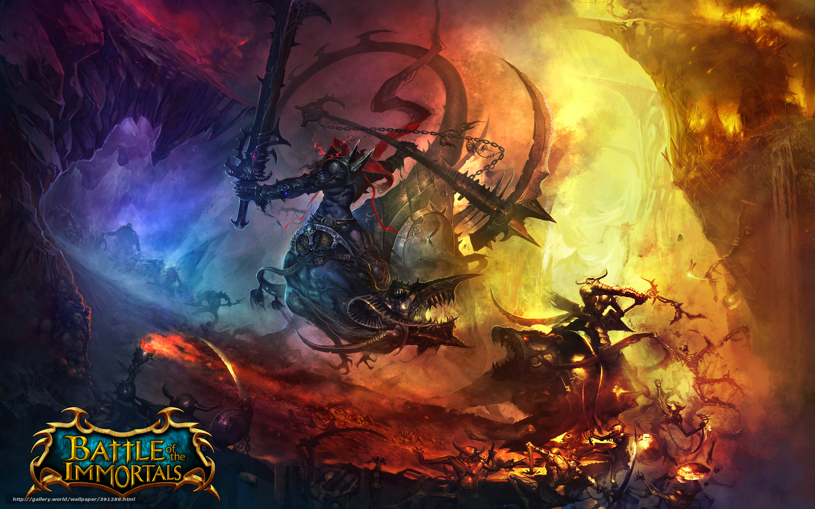 Download wallpaper battle,  immortals,  flight,  battle free desktop wallpaper in the resolution 1680x1050 — picture №391289