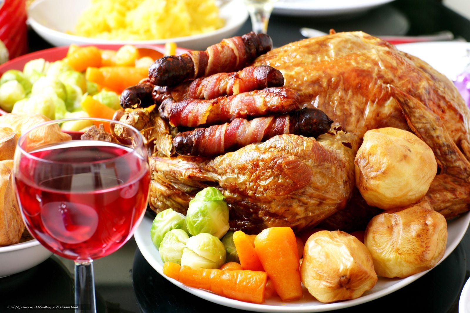 Скачать обои жареная курица,  картофель,  морковь,  гарнир бесплатно для рабочего стола в разрешении 3072x2048 — картинка №393998