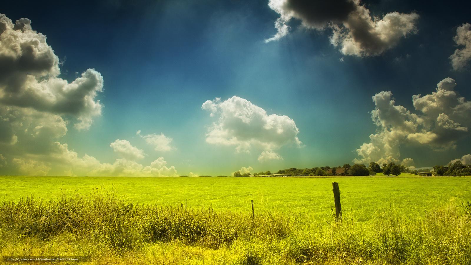 scaricare gli sfondi erba, prato, cielo, nuvole Sfondi ... Wallpaperscraft