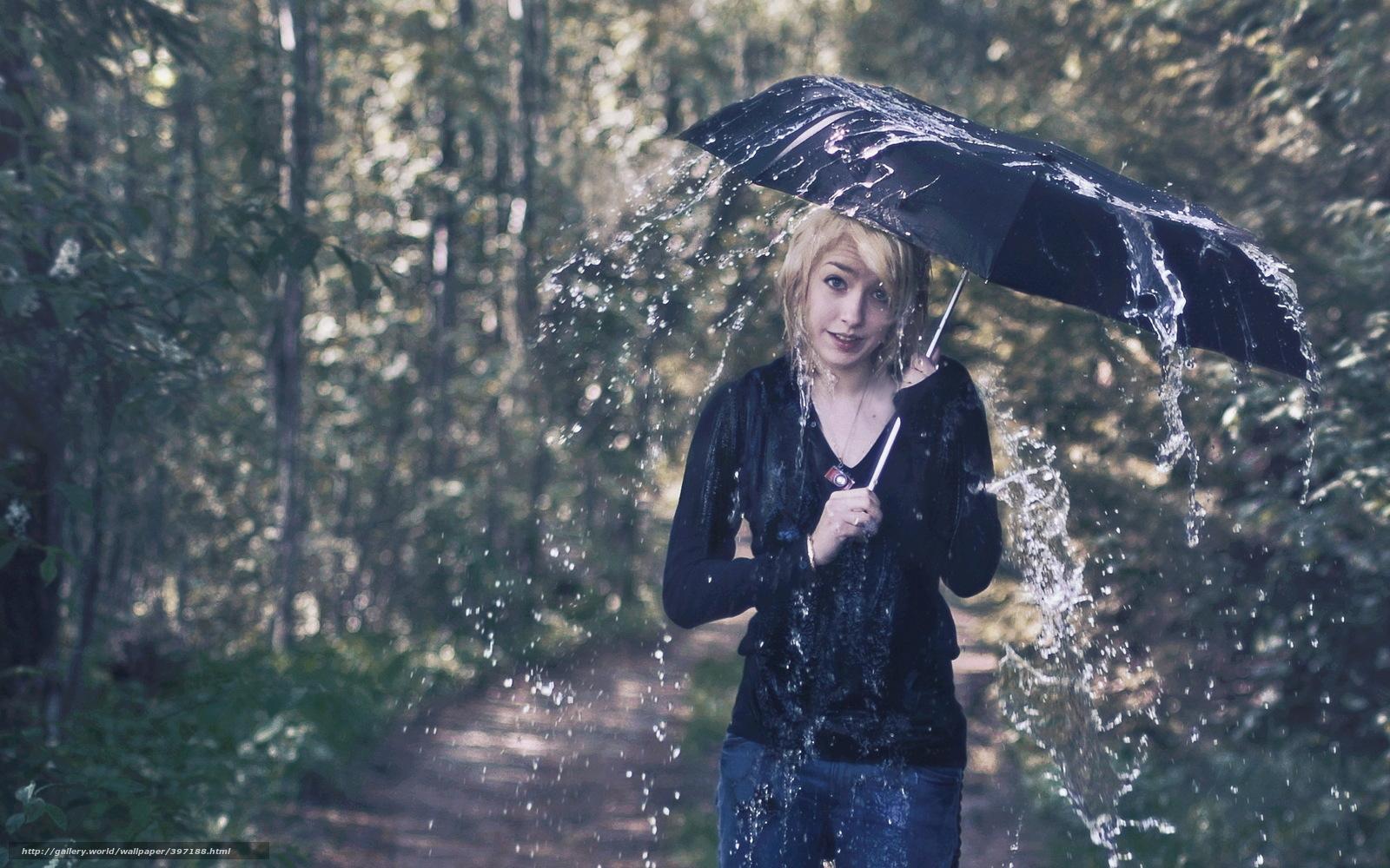 下载壁纸 女孩,  伞,  雨,  情况 免费为您的桌面分辨率的壁纸 2560x1600 — 图片 №397188