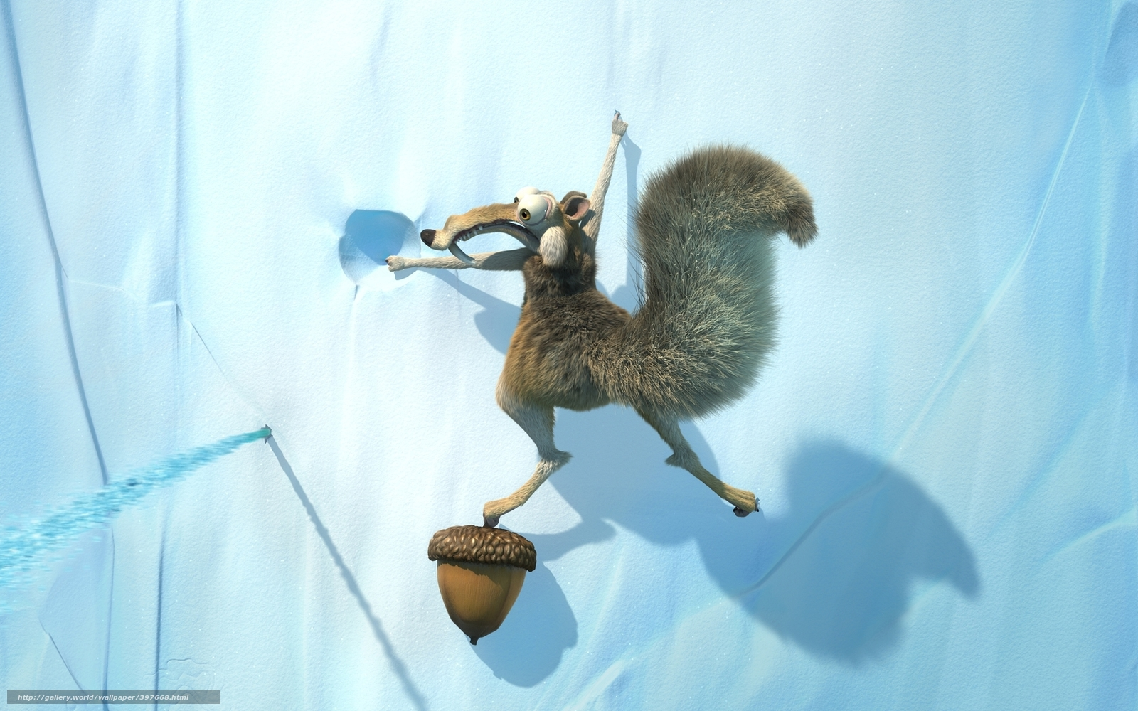 Download wallpaper ice age,  squirrel,  acorn,  rock free desktop wallpaper in the resolution 1680x1050 — picture №397668