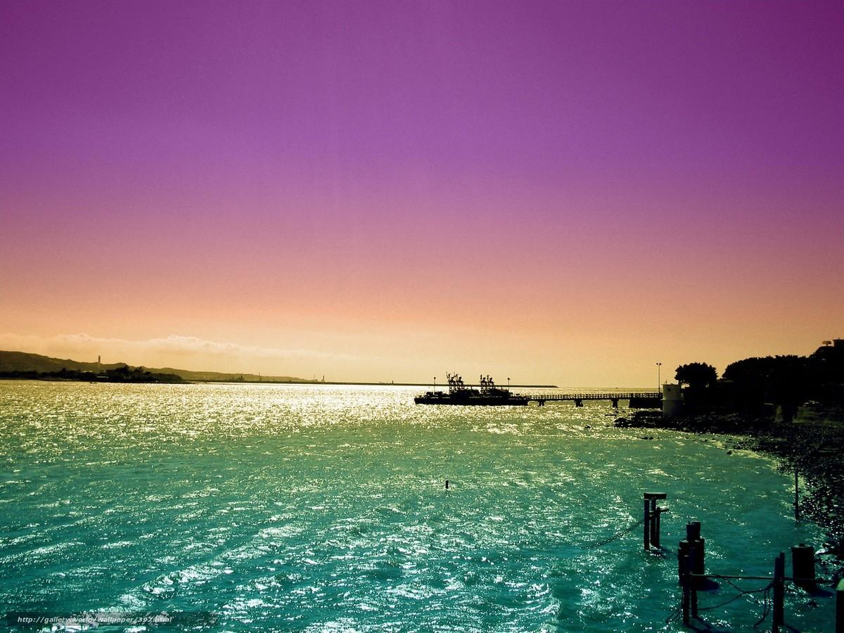 Tlcharger Fond d'ecran mer,  coucher du soleil,  navire,  ciel Fonds d'ecran gratuits pour votre rsolution du bureau 1600x1200 — image №397
