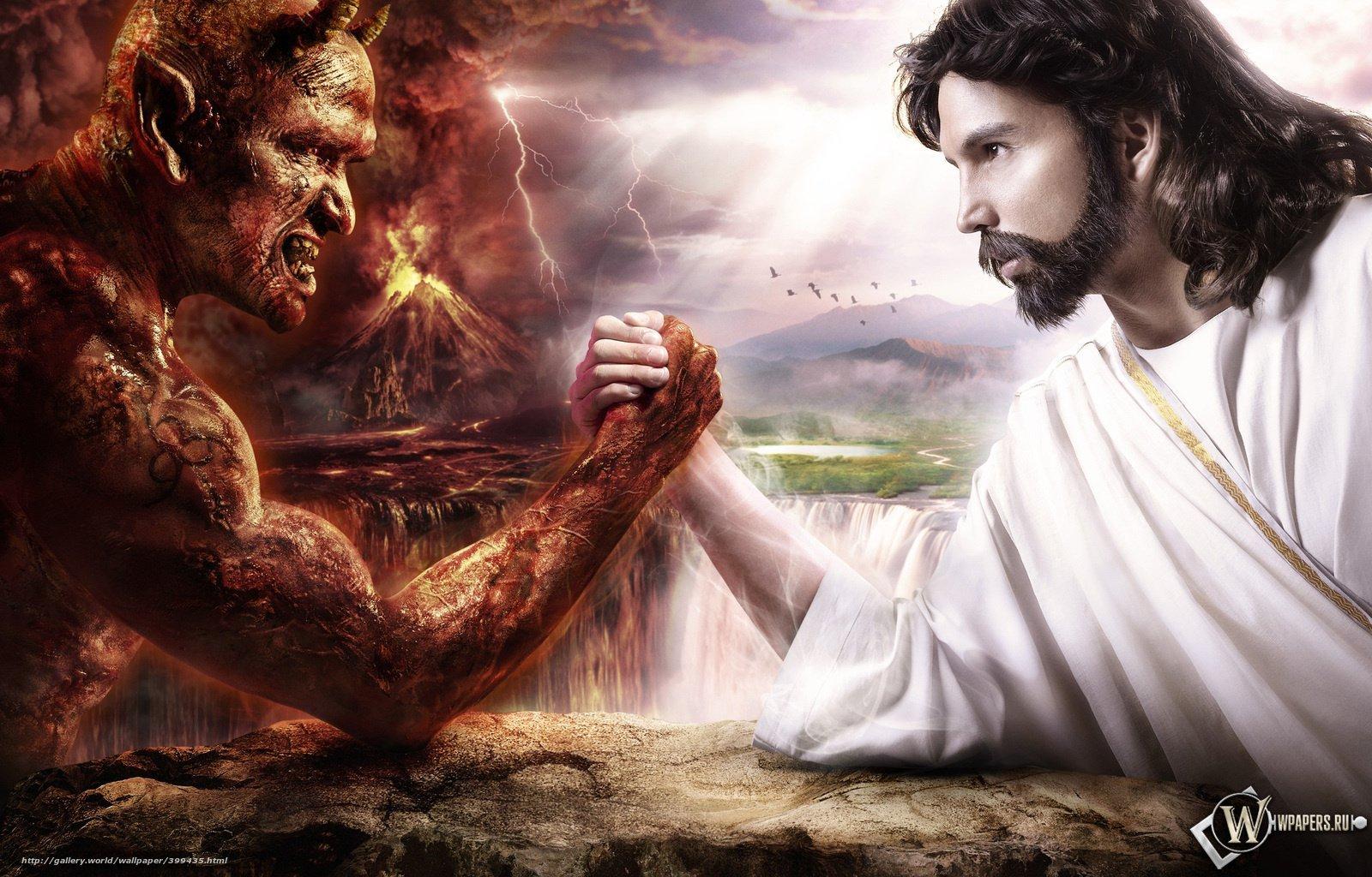 壁紙をダウンロード 悪魔,  神,  鬼,  エンジェル デスクトップの解像度のための無料壁紙 1600x1024 — 絵 №399435