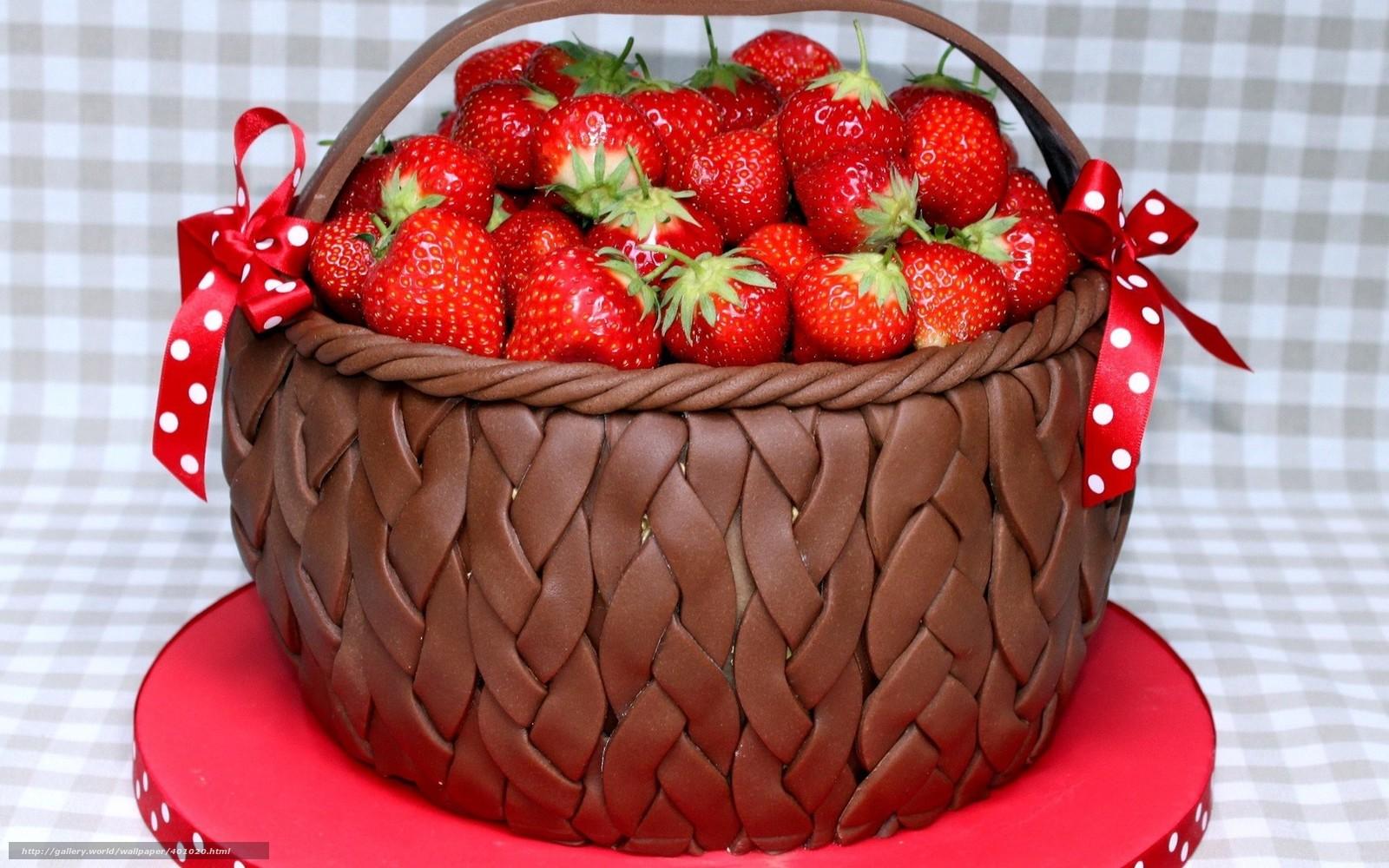 Скачать обои еда,  пища,  ягоды,  клубника бесплатно для рабочего стола в разрешении 1680x1050 — картинка №401020